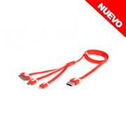 CABLE 3 EN1 P/DATOS,CARGA  P/iPHONE 4 Y 5 MICRO